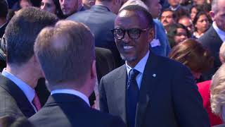 President Kagame attends the official opening of the World Economic Forum Annual Meeting 2018