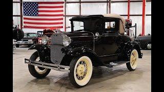 1931 Ford Model A black cherry
