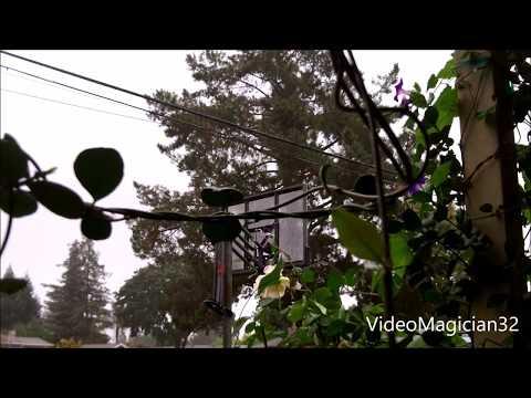 Isolated Monsoonal Thunderstorms hit Santa Rosa, CA September 13, 2017