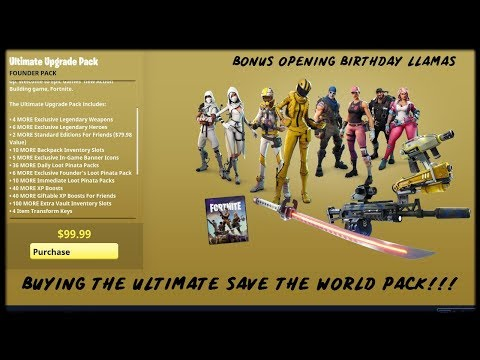 Buying Ultimate Edition Fortnite Save The World