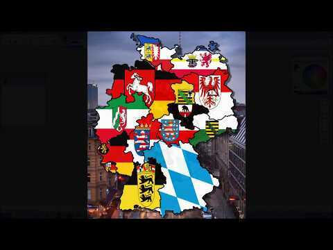 Flag Map of the German States