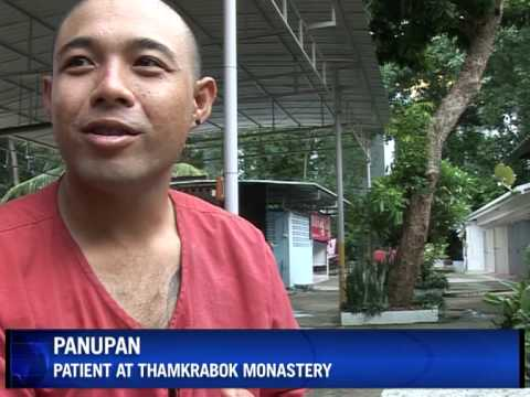 Vomiting and vows: Thai temple treats drug addicts