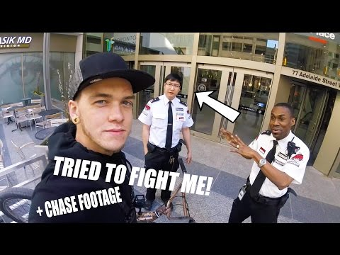 SECURITY GUARDS HATE ME  **HE TRIED TO FIGHT ME**