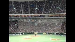 イチロー選手日本での大リーグ選手としての最終打席です.