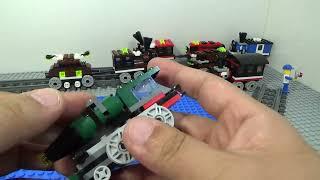 레고 고속 로켓 열차 LEGO Creator 31015 Emerald Express 기차 조립기