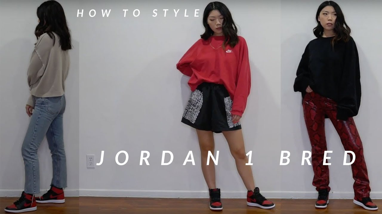 How To Style Air Jordan 1 Bred 5 Streetwear Outfits Julia