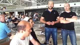 Грузины в аэропорту Борисполь! Киев.