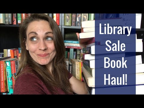 Library Sale Book Haul! | 2018 | Kendra Winchester