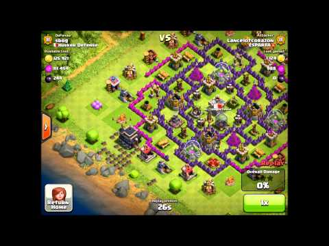 Clash of clans TH on edge of base for farming isn't a good idea