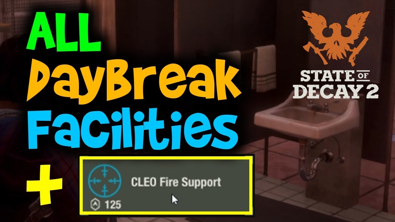 All Daybreak Facilities + Mods Showcase || State of Decay 2 Daybreak DLC
