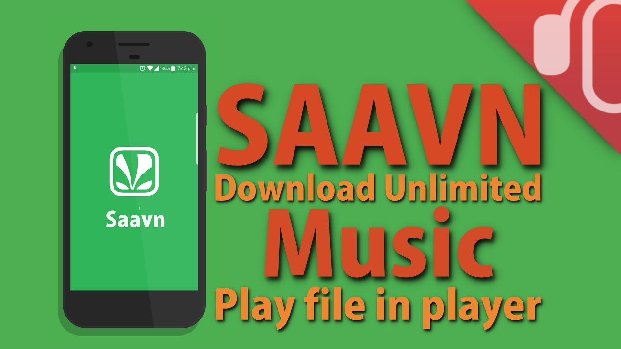 In Hindi | How to download SAAVN unlimited music and play mp3 file in any  player