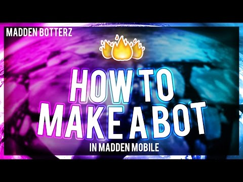 HOW TO MAKE A MADDEN MOBILE BOT FOR ANDROID DEVICES!