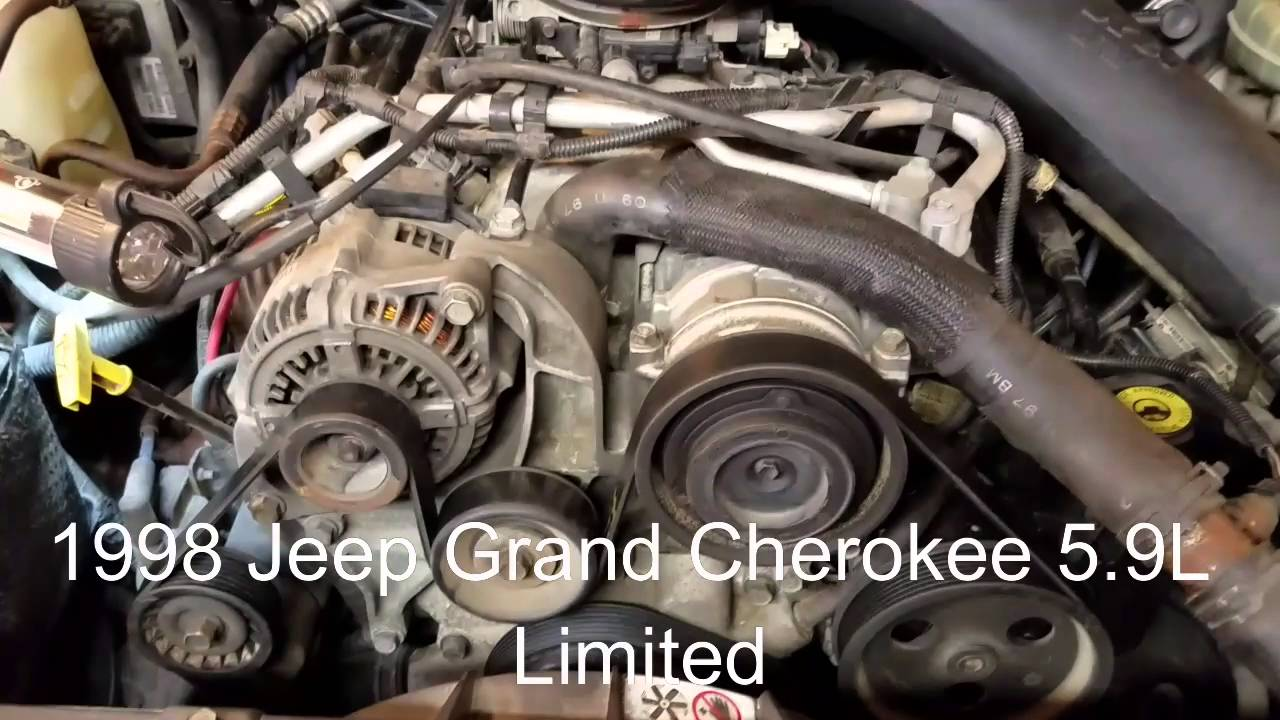 hight resolution of 1998 jeep grand cherokee 5 9 simple belt removal and replacement