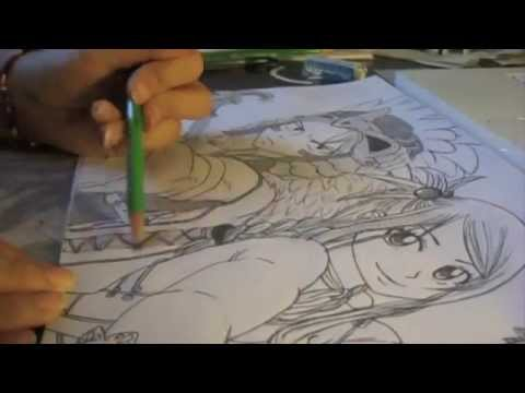 Fairy tail dessin natsu et lucy youtube - Fairy tail lucy et natsu ...