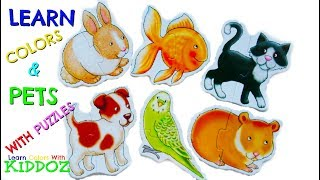 Learn Colors and PETS With Puzzles