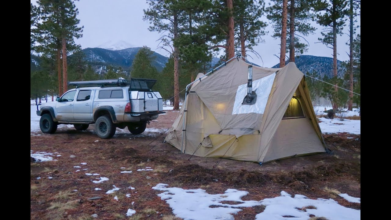 My Experience in a Four-Season Tent with a Wood Stove in the
