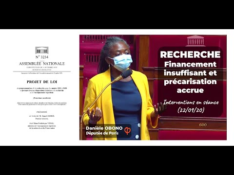 🔬📚 PROGRAMMATION DE LA RECHERCHE : FINANCEMENT INSUFFISANT ET PRÉCARISATION ACCRUE (22/09/20)