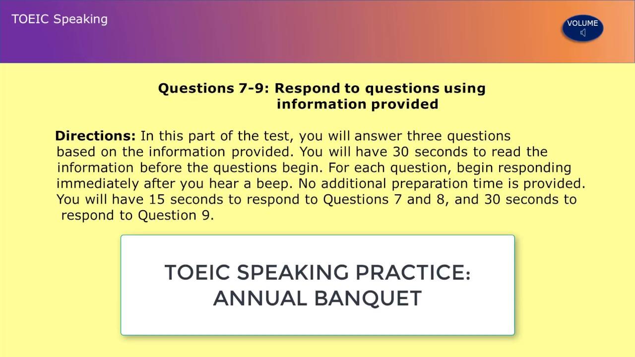 TOEIC Practice - Speaking