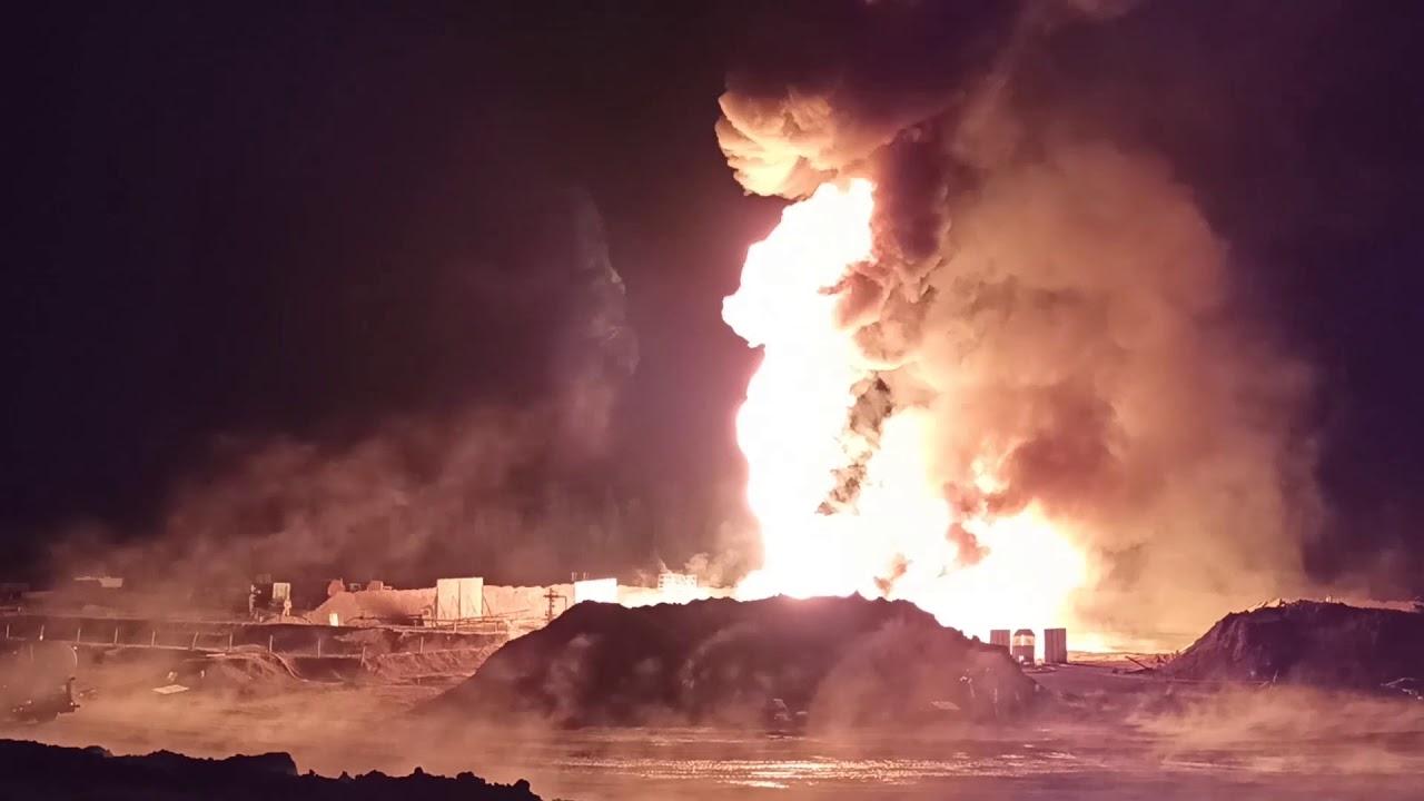 Артиллеристы ликвидировали пожар на нефтяной скважине в Иркутской области