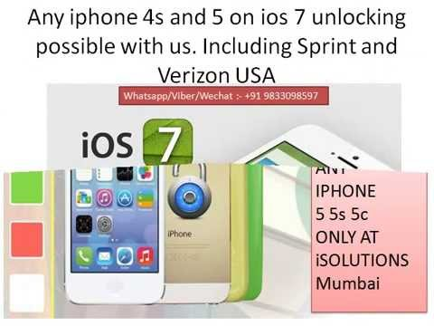 Iphone 4 4s 5 5s 5c Japan Softbank AU Kiddi unlock - +919833098597