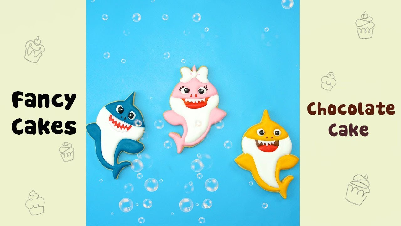 Easy Making Baby Shark Cookie #shorts