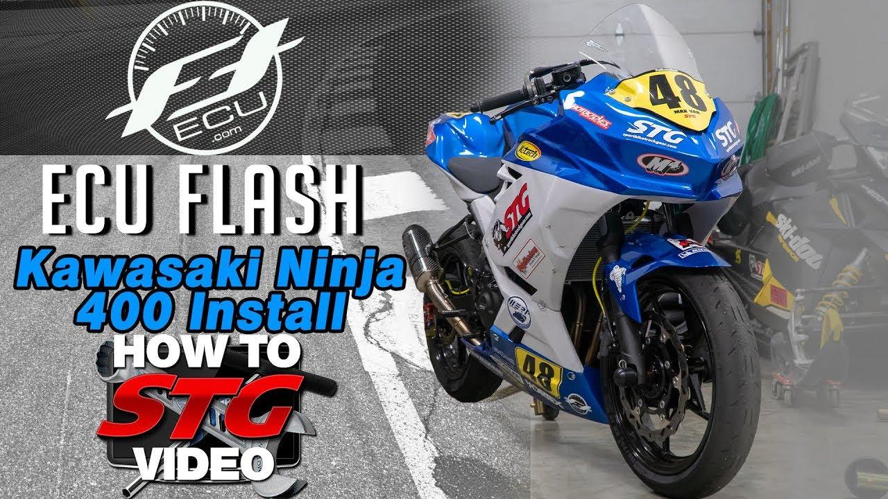 Kawasaki Ninja 400 FTECU ECU Flash Tune Bike Side Kit Install & Flash |  Sportbike Track Gear