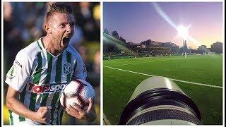 GoPro POV with sports photographer Elvis Žaldaris at UEFA Europa League football match