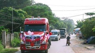 Tin tức trong ngày - Màn rước dâu bằng xe container của chú rể Bắc Giang