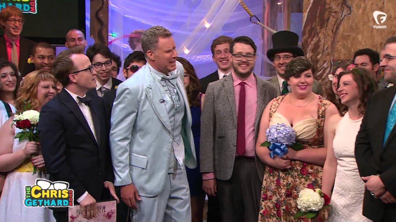 chris gethard wedding. will ferrell gives wedding toast to strangers. the chris gethard show t