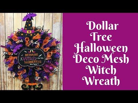 Halloween Crafts: Dollar Tree Halloween Wreath