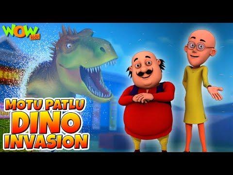 Motu Patlu Dino Invasion - Full Movie | Animated Movies For Kids | Wow Kidz