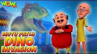 Motu Patlu Dino Invasion - Full Movie | Animated Movies For Kids | Wow Kidz