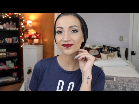 GRWM-UD Gwen Stefani Palette! Shimmery Eyes and Red Lips!