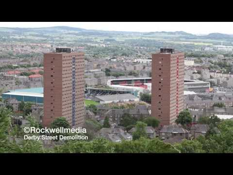 Derby Street Multi Demolition,Hilltown Dundee from Dundee Law HD