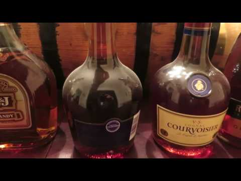Vintage cognac and brandy collection.