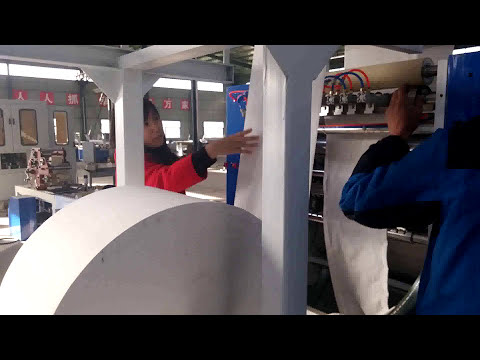 V fold facial tissue paper making machine tissue paper folding machine testing run