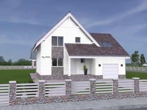 Проекты домов с мансардой postroiru