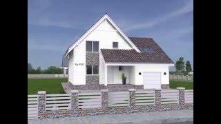 видео Роскошный проект одноэтажного дома с мансардой,  гаражом и цокольным этажом  F-033-ТП