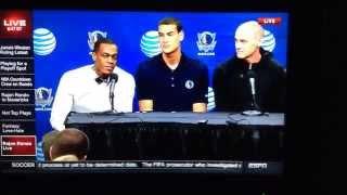 Lady Reporter Asks Rondo Why HE Chose the Dallas Mavericks