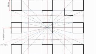 Menggambar 9 Kubus dengan Teknik Persfektif 1 Titik Hilang