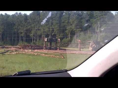 Logging truck accident Childersburg Alabama