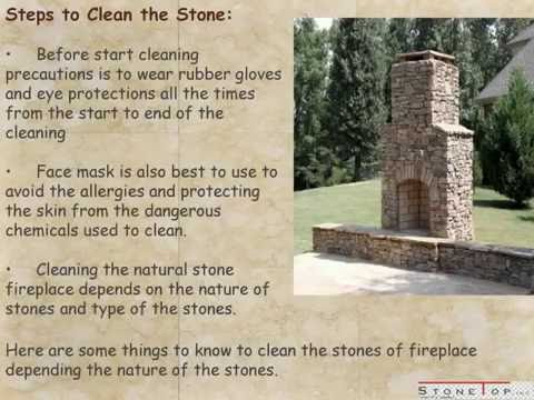 How To Clean Fireplace Stone – Stone Top Inc. - YouTube