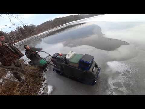 Рыбалка по первому льду 5см в ноябре 2019г.  Экстремальное Перволедье!!!!!! Щука на жерлицы!!!