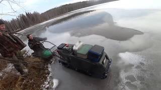 Рыбалка по первому льду 5см в ноябре 2019г Экстремальное Перволедье Щука на жерлицы