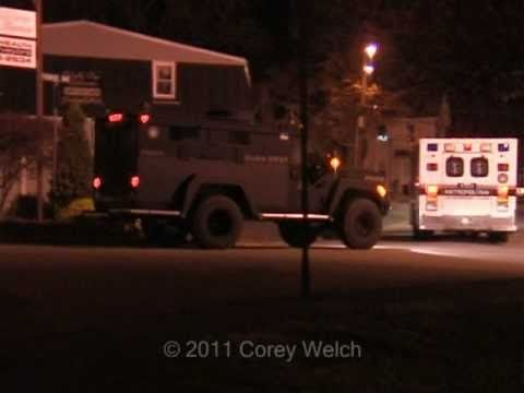 Police And SWAT Teams At Work In Attleboro, MA