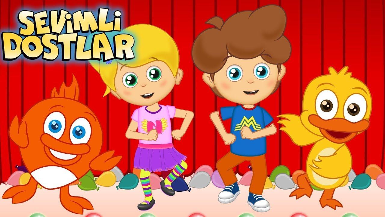 Sevimli Dostlar Şarkısı ve 75Dk Çizgi Film Çocuk Şarkıları | Kids Songs and Nursery Rhymes