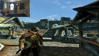 Streaming Skyrim VR wirelessly from the computer to the Oculus Ques...