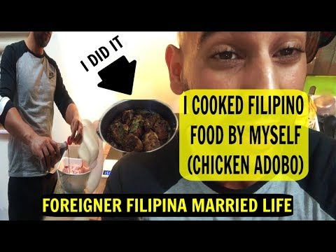 FOREIGNER COOKING FILIPINO CHICKEN ADOBO FOR FIRST TIME – NATIONAL DISH OF THE PHILIPPINES