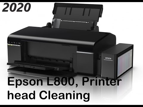 Epson l800 printer head Cleaning - YouTube(101% Working)