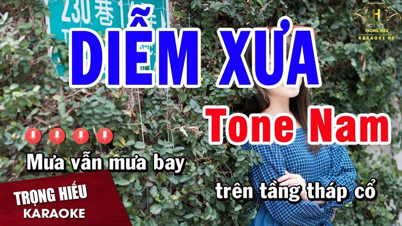 Karaoke Diễm Xưa Tone Nam Nhạc Sống   Trọng Hiếu
